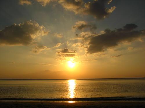 Sun Setting on Long Beach, Koh Lanta