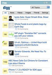 Digg's New iGoogle Widget