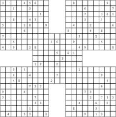 Samurai Sudoku Puzzle