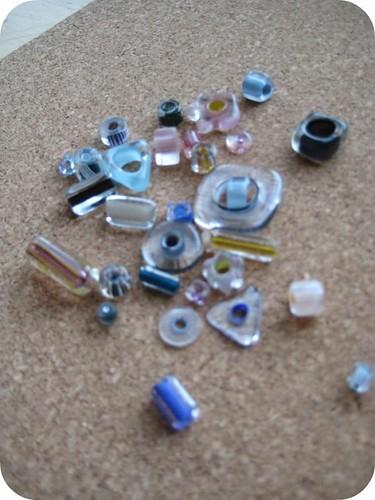 Hand blown glass beads