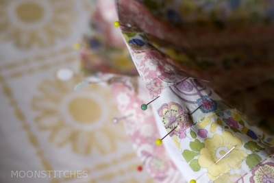 pin and sew to background
