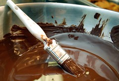 Chocolate paintbrush (becs.) Tags: food chocolate melted paintbrush