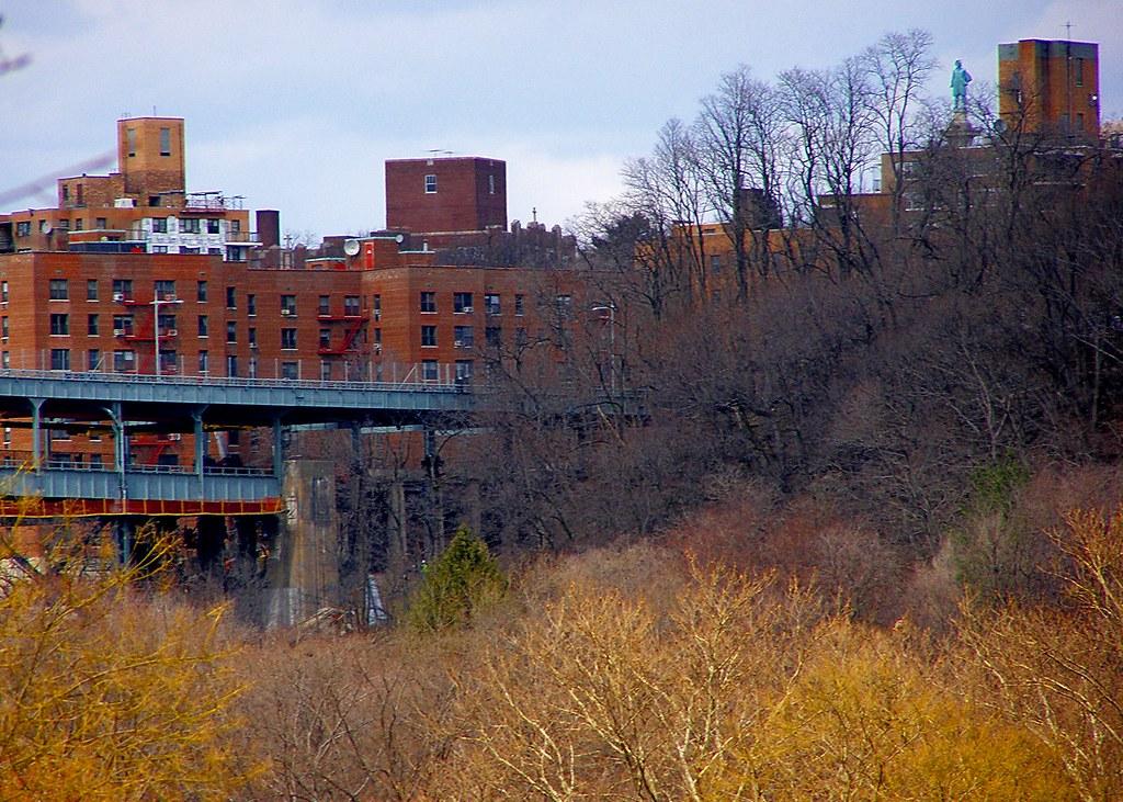 Henry Hudson overlooking the Henry Hudson Bridge (Spuyten Duyvil & Inwood Park NYC)