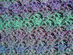 Shawl closeup before blocking