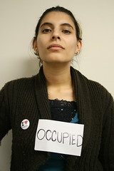 Occupied (Sa ra) Tags: portrait woman signs female muslim young hijab australia melbourne identity labels creativeproject