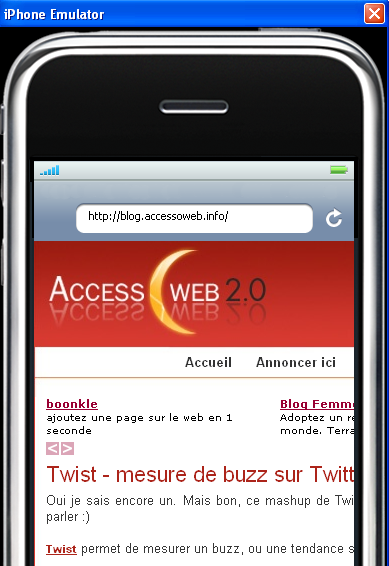 iphone sous Firefox