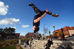 Luke Skywalker (professional recreationalist) Tags: starwars jump flip freerunning brucedean professionalrecreationalist lukeskywalker victoriabc parkour skywalker freerunner