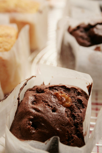 rhum raisin cacao muffin