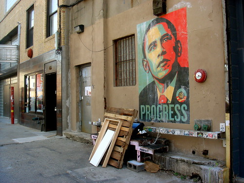 Obama mural on 6th Street