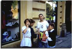 Poland Kraków * two photo set *  street boys (paololivorno) Tags: children strada bambini poland statua polonia cracovia fumo krakov infinestyle