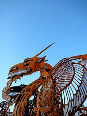 here be dragons (@ThetaState) Tags: sculpture toronto canada art metal rust dragon panasonic torontoisland lakeontario 2008 tz1 digitalcameraclub iorn publicscultpmetalrustdragoniornpublic