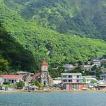 Dominica (Caribbean) - Soufrière - colorful village & landscape thumbnail