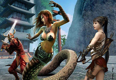 Snake girl (The Art of Photoshop - Paco Valera) Tags: girls copyright art photoshop arte chicas fotografia diseo postales colorido composiciones photocomposition guerreros serpientes fotocomposicion graphicmaster