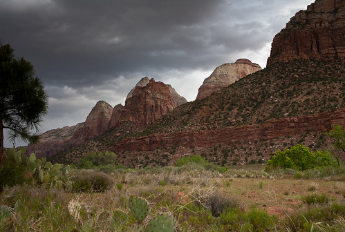 Zion before storm