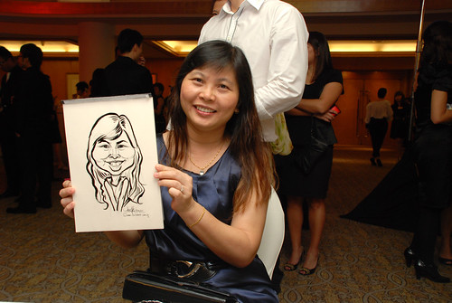 caricature live sketching for Great Eastern Achievers Nite 2011 - 6