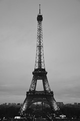 Romantic Paris (lauran0akes) Tags: bw paris france eiffeltower