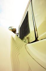 Vintage white (pmsmgomes) Tags: old white classic car digital vintage nikon automobile wheels d70s perspective nikond70s chrome pearl dslr lim 2007 pmsmgomes nikonstunninggallery lisboninternationalmeeting