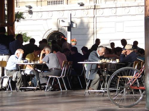 Ajedrez en Plaza de Armas