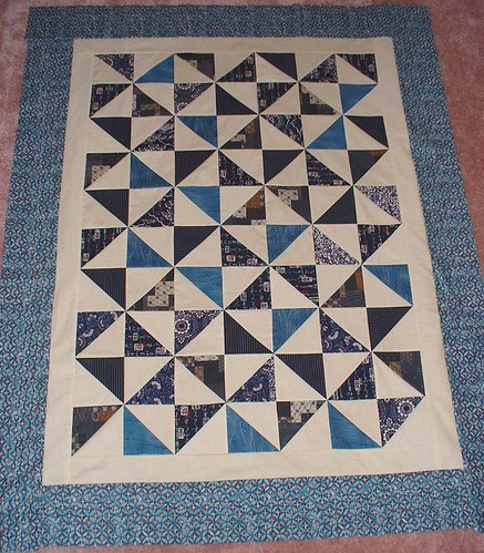 Japanese windmill quilt top