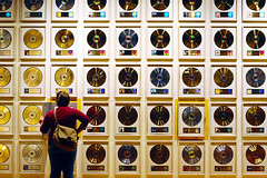 the hall of records. (solecism) Tags: records gold nashville geometry tennessee albums halloffame countrymusic platinum countrymusichalloffame