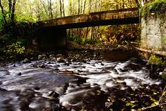 Babble under bridge