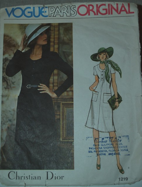 vintage mine pattern dress sewing aline christiandior vogueparisoriginal knitdress