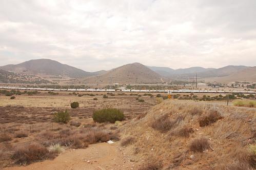 Tren de mercancías en el desierto