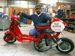 Uncle Mario and his Lambretta (mr.diesio) Tags: vespa mario lambretta officina zio valleimagna drugrace