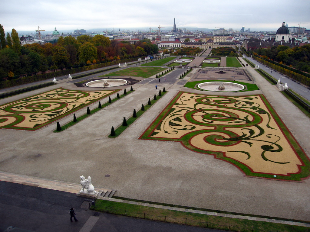 View from the back of Upper Belvedere Palace, facing Lower Belvedere