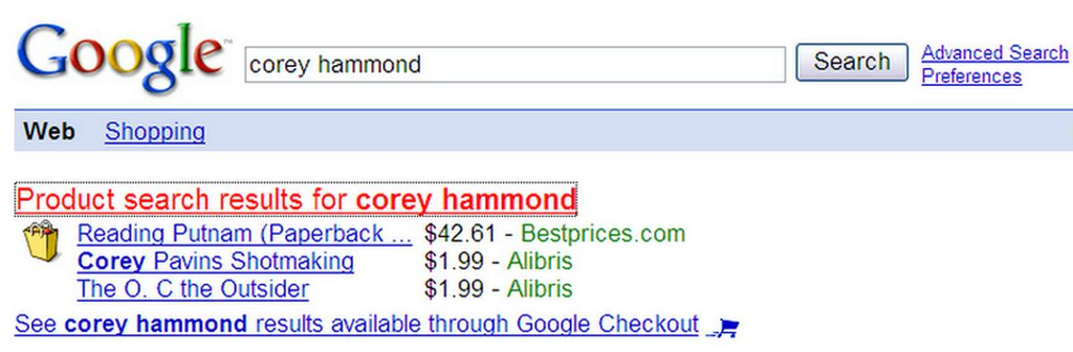Corey Hammond on Google Universal Search