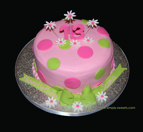 13th birthday pink and green