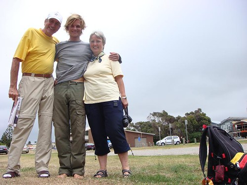 Manfred, Nicolai, and Karin in Apollo Bay.