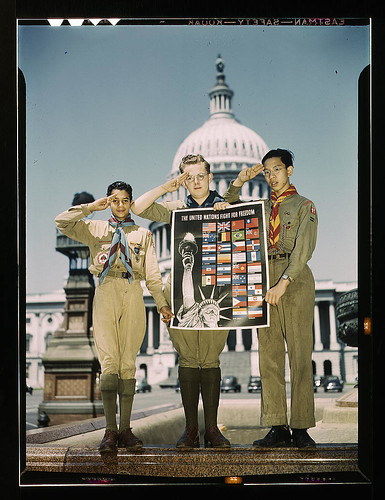 Boy Scouts in front of Capitol