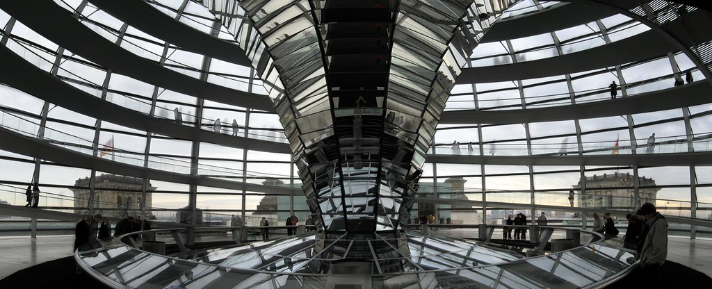 Inside Reichstag's Cupola