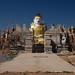 a statue under construcion