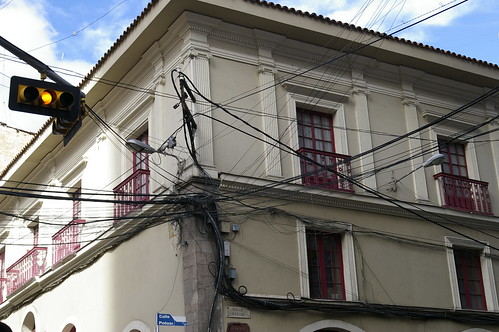 Electrical wires in La Paz, Bolivia