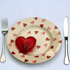 Hungry for your love (cattycamehome) Tags: red food white love tag3 taggedout dinner hearts bravo tag2 tag1 heart eating cream knife plate fork valentine romance eat hunger meal hungry catherineingram eatyourheartout  xxxxx xoxoxoxoxox february2008  anawesomeshot cattycamehome hungryforyourlove