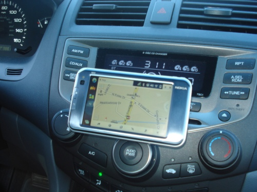 Driving around with the N810