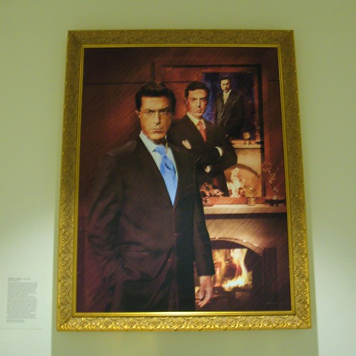 Stephen Colbert at the National Portrait Gallery, by Mr. T in DC