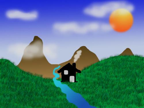 Landschaft - wie gemalt