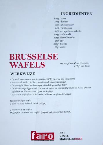 Wafel recept Faro @ Marollen