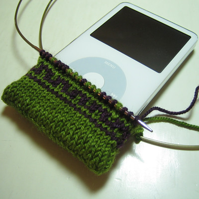 Fair Isle iPod bag