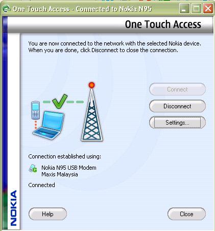Nokia Internet Connection