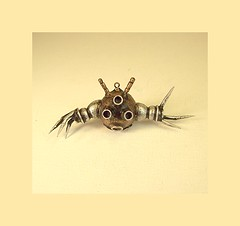 Rad Hover Ball Robot Wood Pendant Ornament Dangle (Builders Studio) Tags: wood fiction people sculpture man art classic statue metal trek toy person star robot punk comic technology geek mechanical tech metallic space painted machine artificial science retro steam nasa replica ia figure scifi pulp wars figurine android prop mecha droid geekery bot mech robo automaton steampunk robotic cyclon