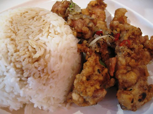 Salt & pepper chicken rice