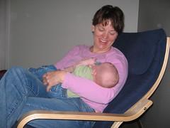 Grandma Heather Cuddles with Alex