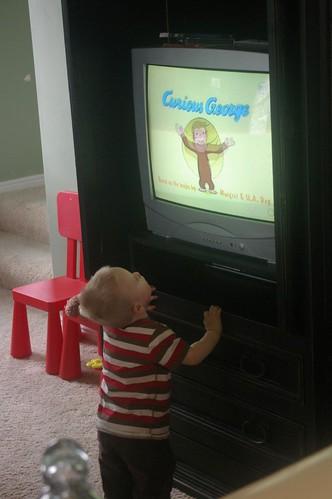 he really likes tv