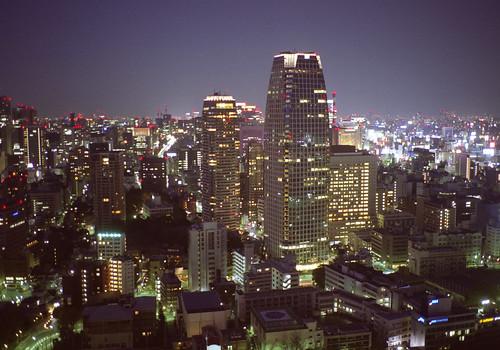タワーから夜景