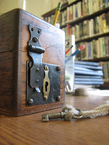 where you put your library fines and how the librarian gets them out