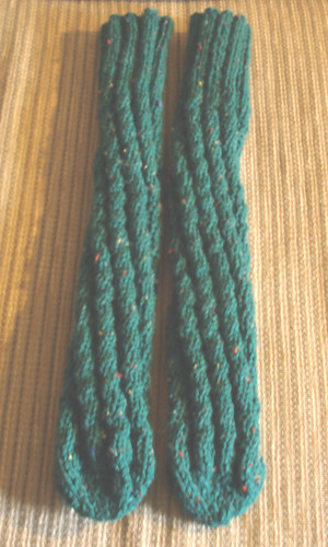 Pattern For Knitting Socks On 9 Inch Circular Needles : Ravelry: Spiral Knit Tube Socks pattern by Leef Bloomenstiel